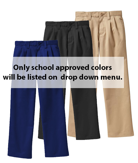 PARKVIEW ELEMENTARY - PLEATED PANTS HUSKY