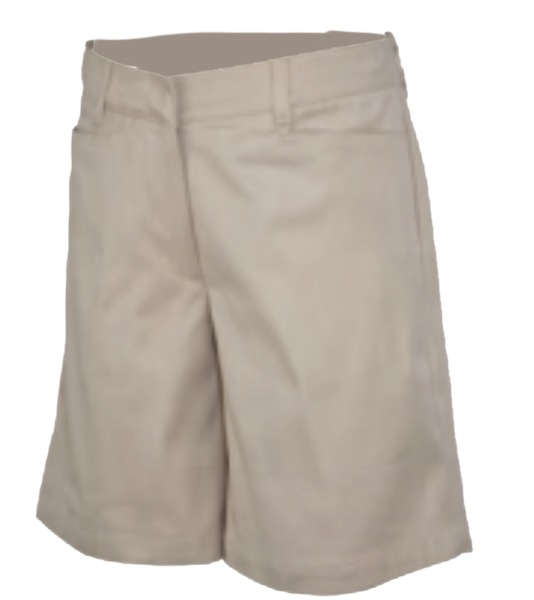 TRINITY EPISCOPAL SCHOOL - Girls SHORTS Mid-Rise Plainfront Regular S