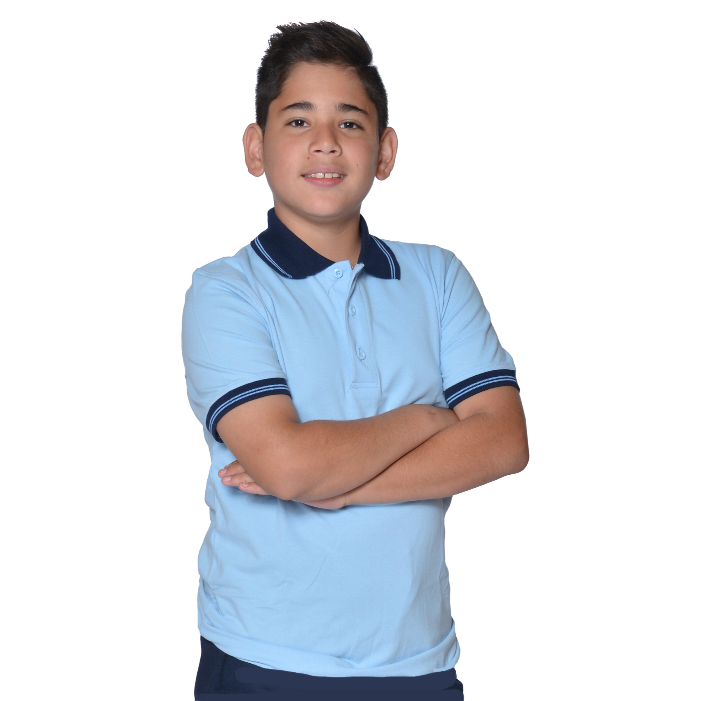 BOYS - PREMIUM - Polo Spandex With Tip Collar S/S