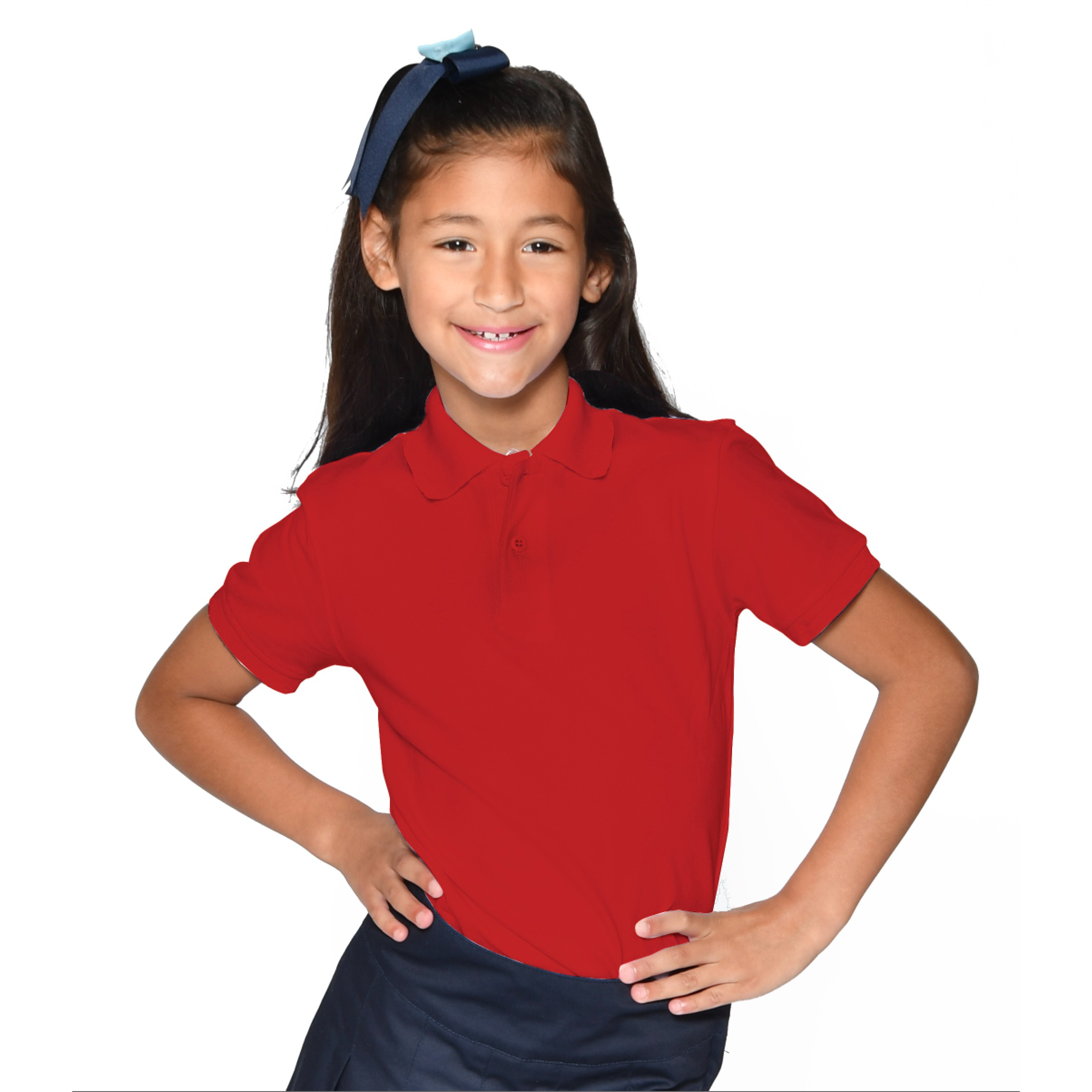 GIRLS - PREMIUM -  Polo Spandex Fitted S/S