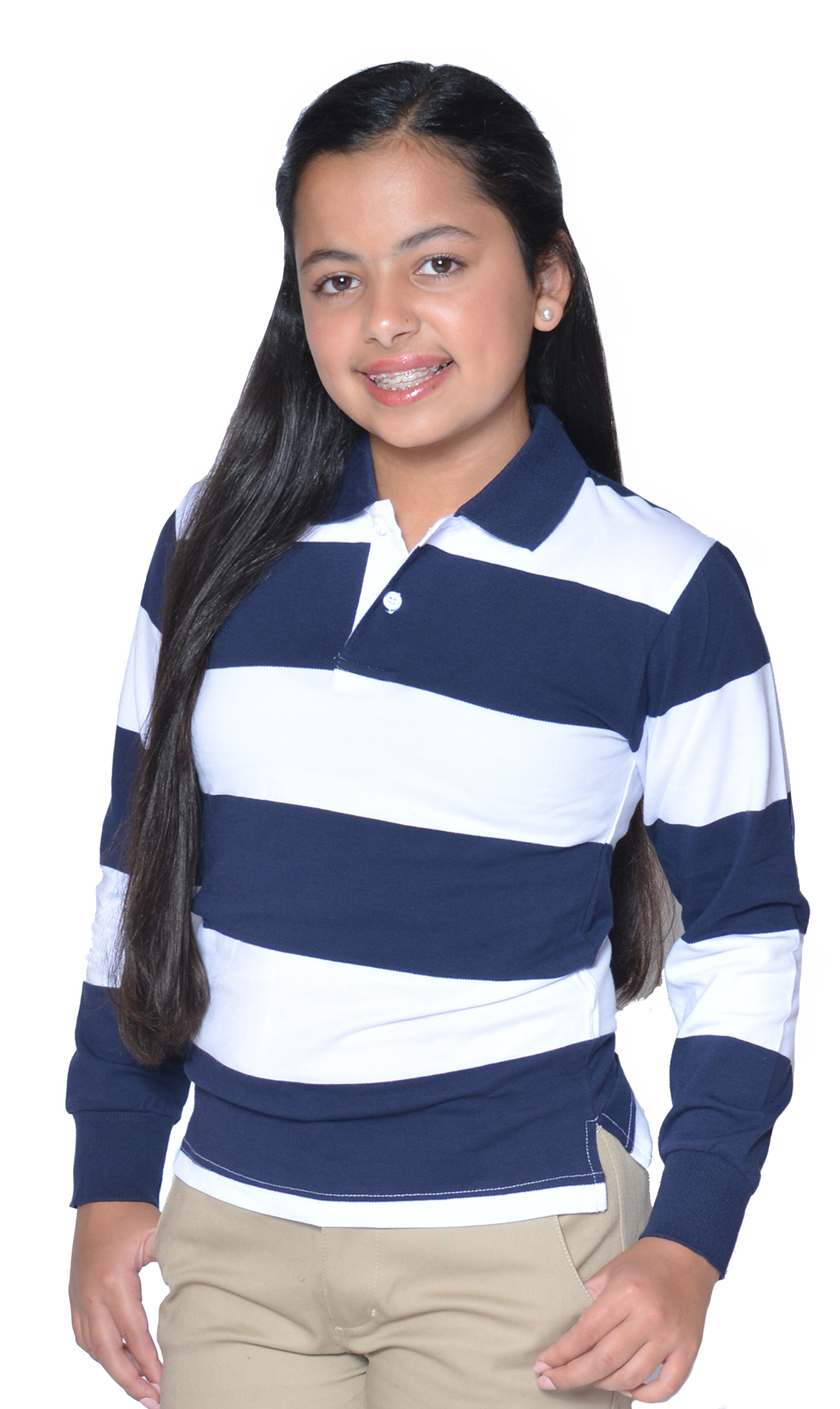 GIRLS - PREMIUM -  Polo Rugby L/S