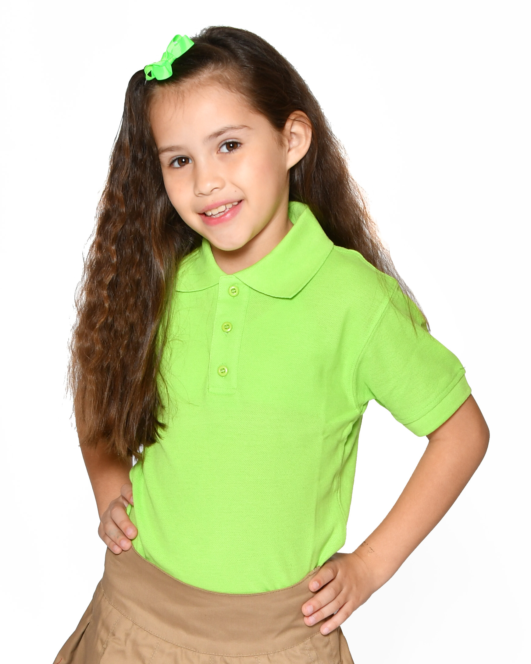 GIRLS - PREMIUM -  Polo Relax Spandex S/S